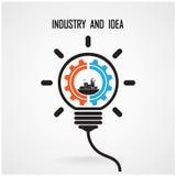 Conception créative de fond de concept d'ampoule Image libre de droits