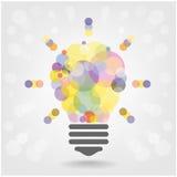 Conception créative de fond de concept d'idée d'ampoule Photographie stock libre de droits