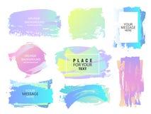 Conception créative de fond de vecteur Boîte pour le texte, l'information Courses tirées par la main de brosse avec des cadres Image stock