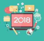 Conception créative de la bonne année 2018 illustration de vecteur