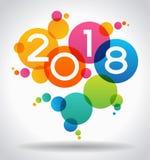 Conception créative de la bonne année 2018 illustration libre de droits