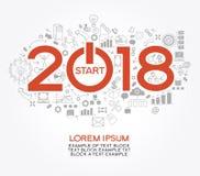 Conception créative de la bonne année 2018 illustration stock