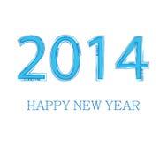 Conception créative de la nouvelle année 2014 illustration de vecteur