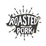 Conception créative de logo avec du porc Illustration de vecteur Image stock
