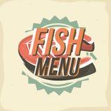 Conception créative de logo avec le bifteck saumoné Illustration de vecteur Photos libres de droits