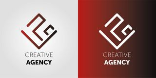 Conception créative de logo d'agence Logo abstrait de vetor Signe pour des affaires, soci?t? de communication d'Internet, agence  illustration stock