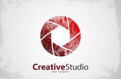 Conception créative de logo de studio illustration libre de droits