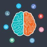 Conception créative de vecteur de cerveau Photographie stock libre de droits