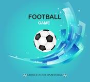 Conception créative de vecteur du football sur le vert illustration stock