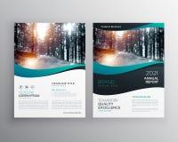 Conception créative de vecteur de tract de brochure d'affaires avec la forme onduleuse illustration libre de droits