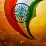 Conception créative de vecteur de vieux drapeau indien Photographie stock libre de droits
