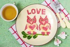 Conception créative des casse-croûte pour le jour de valentines Photographie stock