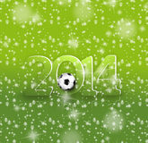 Conception 2014 créative du football Photos stock