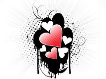 Conception créatrice abstraite d'amour illustration de vecteur