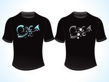 Conception créatrice abstraite de T-shirt Image libre de droits