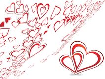 Conception créatrice abstraite du jour de valentine illustration stock