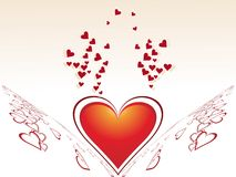 Conception créatrice abstraite du jour de valentine illustration libre de droits
