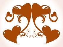 Conception créatrice de coeur abstrait illustration de vecteur