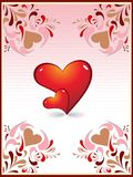 Conception créatrice de coeur de carte d'amour illustration stock
