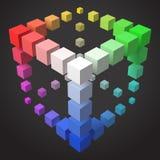 conception cubique de cadre du style 3d avec des cubes Illustration Stock
