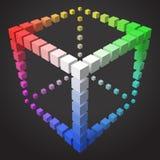 conception cubique de cadre du style 3d avec des cubes Illustration de Vecteur