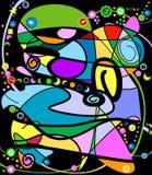 Conception décorative abstraite illustration stock