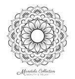 Conception décorative d'ornement de mandala illustration de vecteur