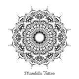 Conception décorative d'ornement de mandala Illustration Libre de Droits