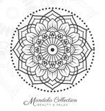 Conception décorative d'ornement de mandala tibétain Illustration de Vecteur