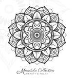 Conception décorative d'ornement de mandala tibétain Illustration Stock