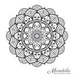 Conception décorative d'ornement de mandala tibétain Illustration Libre de Droits