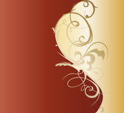 Conception décorative de calibre de Flourish, d'or Photo libre de droits