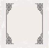 Conception décorative de cru de cadre fleuri calligraphique de trame Photo libre de droits