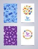 Conception décorative de tract de vecteur faite de jouets Photo libre de droits