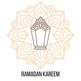 Conception décorative islamique avec la lanterne Photos stock