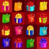 Conception d'échantillon de plaquette avec des attributs de la nouvelle année et du Noël Croquis de l'affiche, de l'invitation de illustration de vecteur