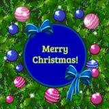 Conception d'échantillon de plaquette avec des attributs de nouvelle année et de Noël Croquis d'affiche, d'invitation de partie e illustration de vecteur