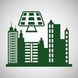 Conception d'écologie protection et concept vert Photos stock