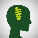 Conception d'écologie protection et concept vert Photographie stock libre de droits