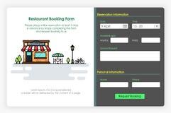 Conception d'écrans d'Onboarding dans la forme et l'icône de réservation d'hôtel Image libre de droits