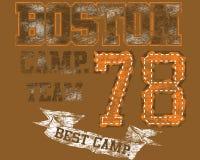 Conception d'équipe de camp de Boston Image stock
