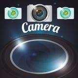 Conception d'équipement d'appareil-photo Photographie stock libre de droits