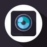 Conception d'équipement d'appareil-photo Image libre de droits