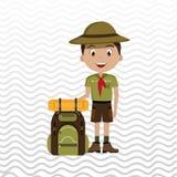 conception d'équipement de camping illustration libre de droits