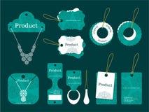 Conception d'étiquettes de Jewerly Photo stock