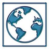 Conception d'abrégé sur carte du monde Image libre de droits