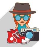 Conception d'accessoires de hippie Images libres de droits