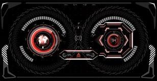 Conception d'affichage à lecture tête haute futuriste de VR Casque HUD de la science fiction Future conception d'affichage de tec illustration libre de droits