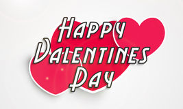 Conception d'affiche avec les coeurs rouges pour la célébration de Saint-Valentin Photos stock