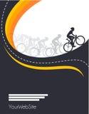 Conception d'affiche d'événement de course de bicyclette de vecteur Photos libres de droits